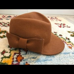Anthropologie Equestrian Camel Colored Wool Hat
